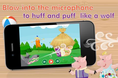 3 Little Piggies Blow Into Microphone