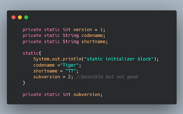 How to use static initializer block in Java