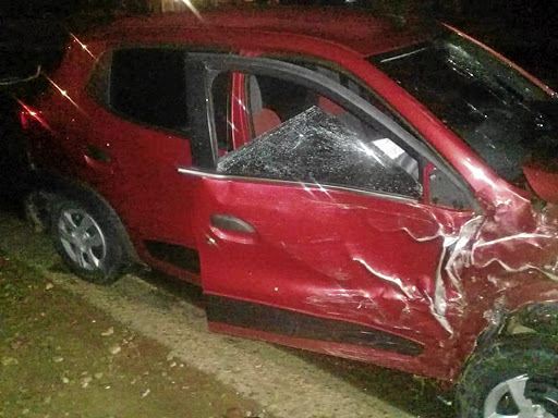 Martha Riba's new car was hit by an unlicensed driver.