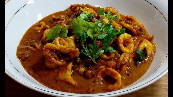 Sri Lankan Style Squid Curry Recipe | Spicy Cuttlefish