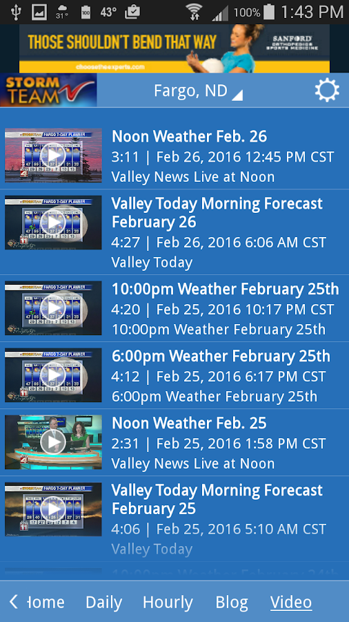 VNL Weather- screenshot