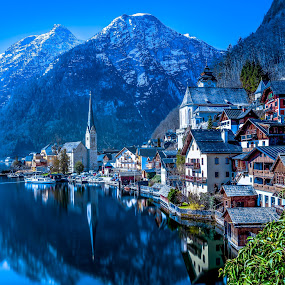 Hallstatt by Arif Sarıyıldız - City,  Street & Park  Vistas ( travel photography, hallstatt, reflections, austria, lake )