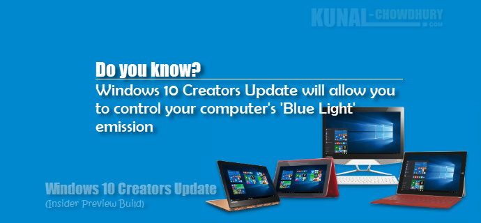 Windows 10 Creators Update will allow you to control blue light settings