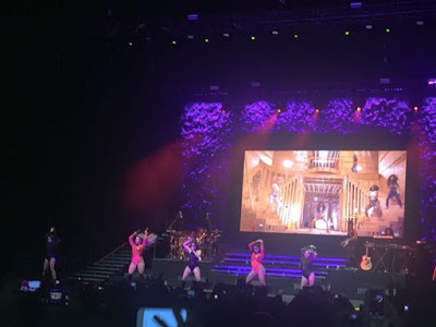 Fifth Harmony on stage at the 02