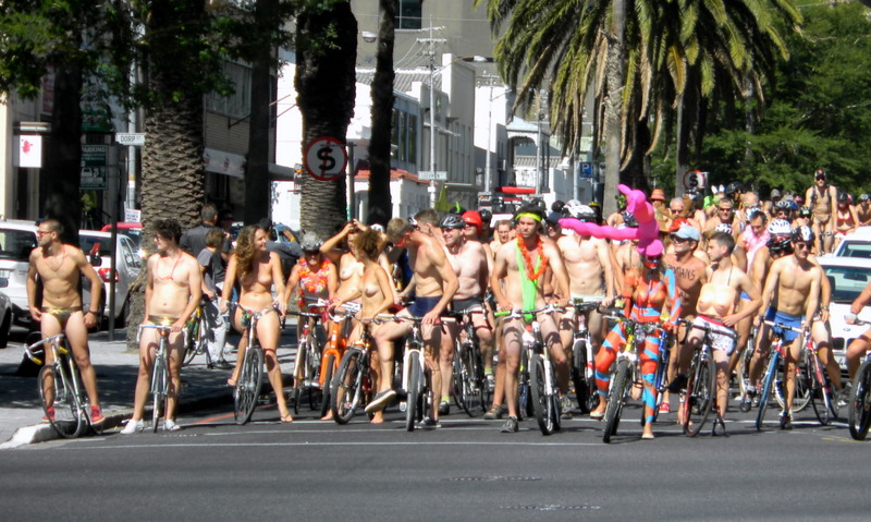 Annual naked bike ride (no we did not participate)