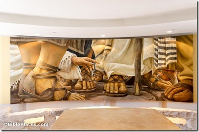 Magdala chapel, Duc In Altum, Encounter chapel, woman touching Jesus's garment, tb053116468
