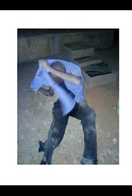 Angry Youths Beats Up Policeman, Tore His Uniform For Shooting An Innocent Man In Ekiti State (Photos)