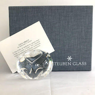 Steuben Love Object Turtledoves Paperweight