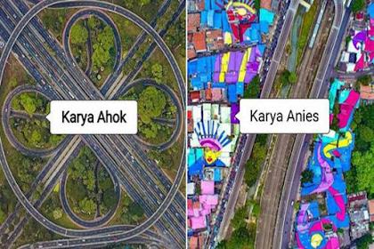 Hebohnya Netizen Bandingkan Jalan Layang Semanggi Karya Ahok vs Rumah Warna Warni Karya Anies