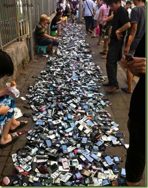phones confiscated