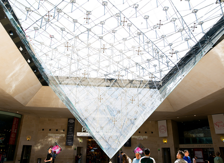 photo from inside the Louvre