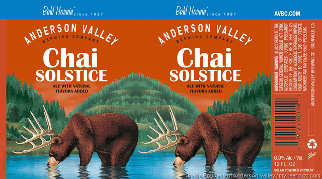 Anderson Valley Adding NEW Chai Solstice 12oz Cans