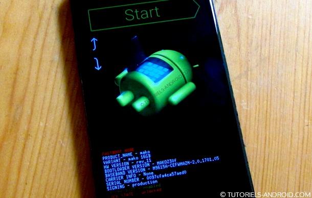 Mode FASTBOOT Nexus 4