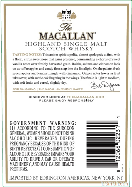 The Macallan Amber Highland Single Malt Scotch
