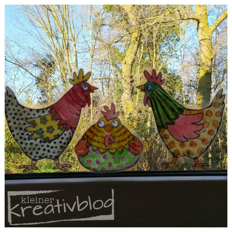 www.kleiner-kreativblog.de Österliche Fensterbilder