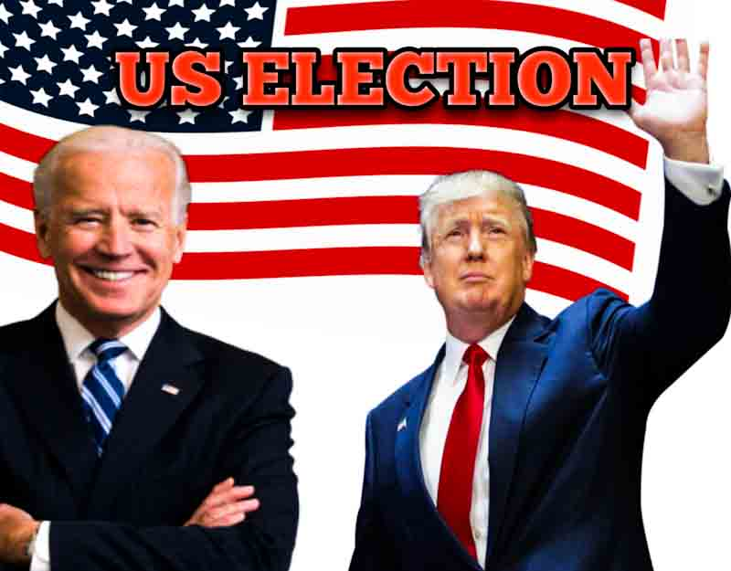 Donald Trump and Joe Biden in US election 2020
