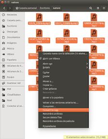 Convertir archivos de audio a formato OGG en Ubuntu - Menu