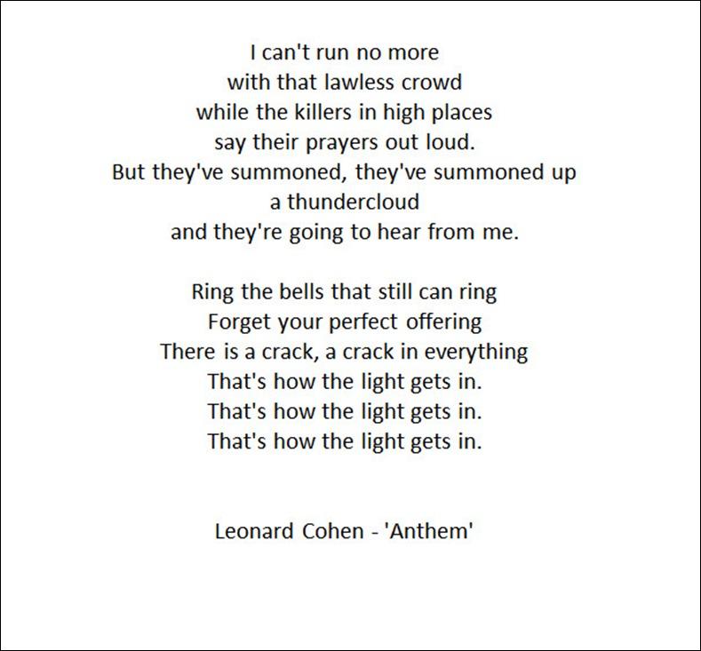 anthem excerpt - Cohen