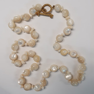 Mish New York 18K, Moonstone and Coral Necklace