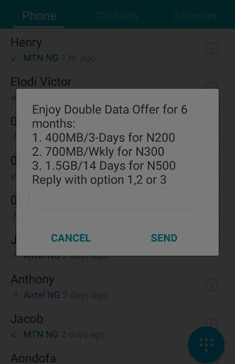 How to activate Airtel 100% double data offer
