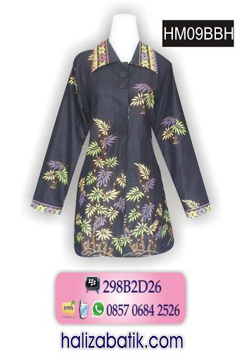 baju atasan batik wanita, baju batik muslim, blus batik wanita