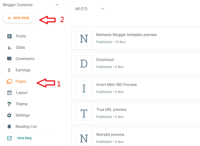 How to make an automatic redirect download page on your Blogger blog