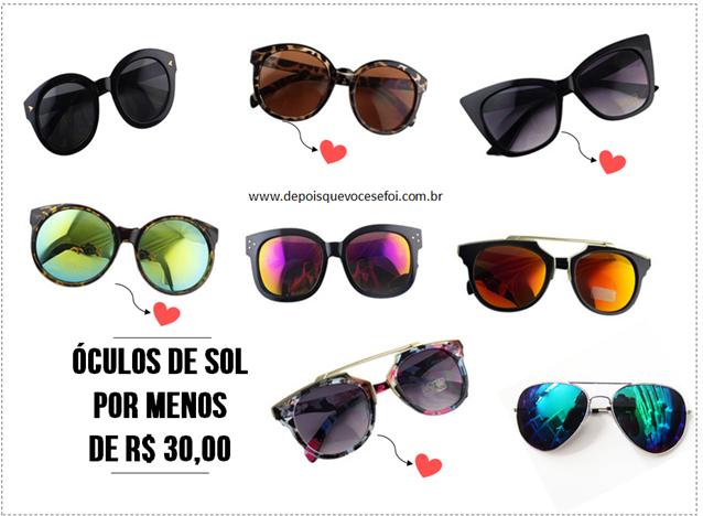 e51338a8718aa Onde comprar os mais lindos óculos de sol por menos de 30 reais ...