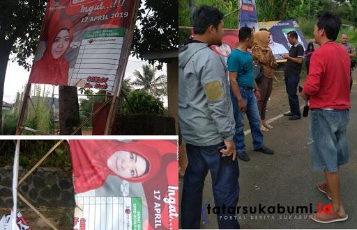Caleg Wanita di Sukabumi Sedih, Baligonya Ada yang Rusak