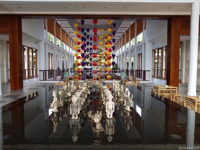 lobby of the Angsana Lang Co resort.