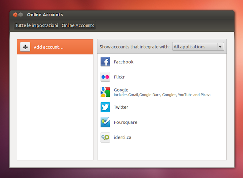 Ubuntu Web App - Online Accounts