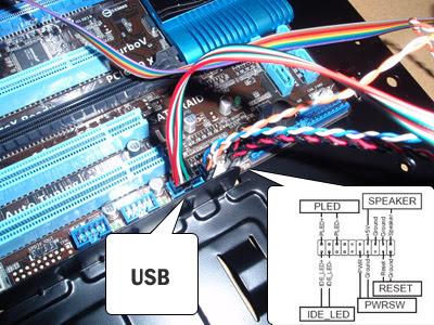 подключение USB проводов