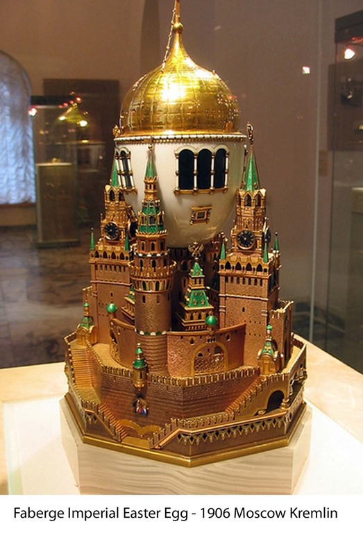 Imperial Faberge Egg - Moscow Kremlin Egg