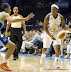Shay Murphy #7 sets up a play. (WNBA: Chicago Sky 59 v. New York Liberty 64, Allstate Arena, Rosemont, IL., July 6, 2012)