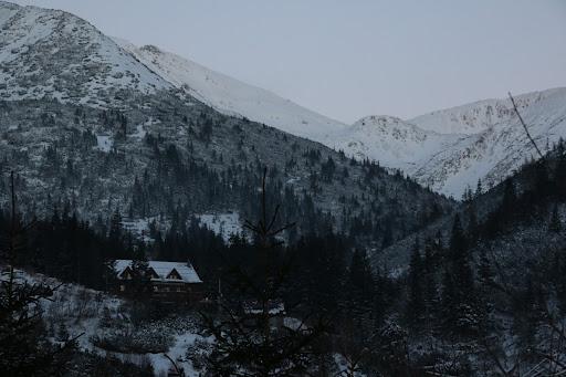 Žiarska dolina po západe slnka