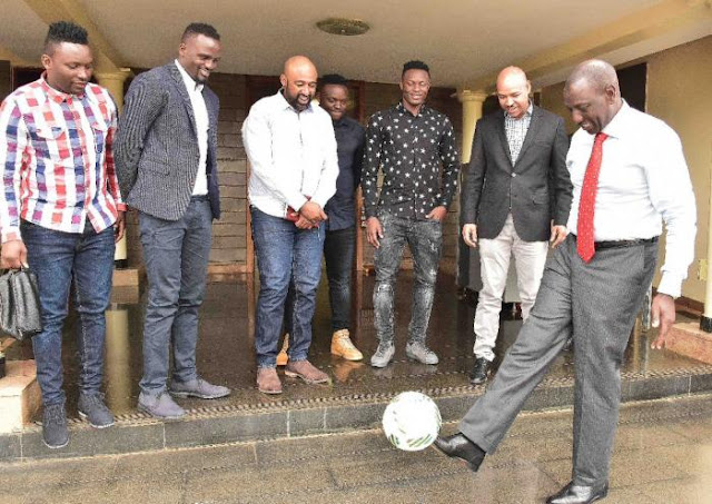 Here is the team Ruto is supporting in today worldcup game
