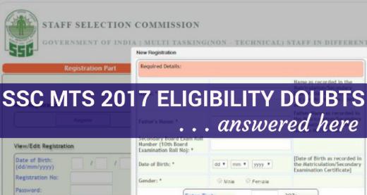 SSC MTS Eligibility Doubts