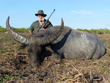 Mr Tanos from Australia with a good buffalo bull. Taken with a 458 win mag.
