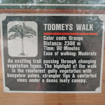 Sign about Toomeys walk (225313)