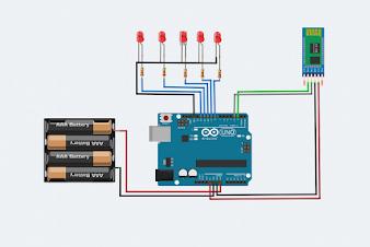 Mạch điều khiển led bằng Bluetooth