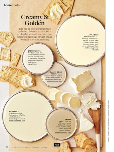 Creamy & Golden paint color scheme