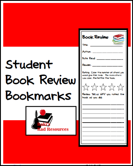 Free download - student book review bookmarks help students think critically about the books they read. These reviews can then be used to help other students choose books. Free download from Raki's Rad Resources,