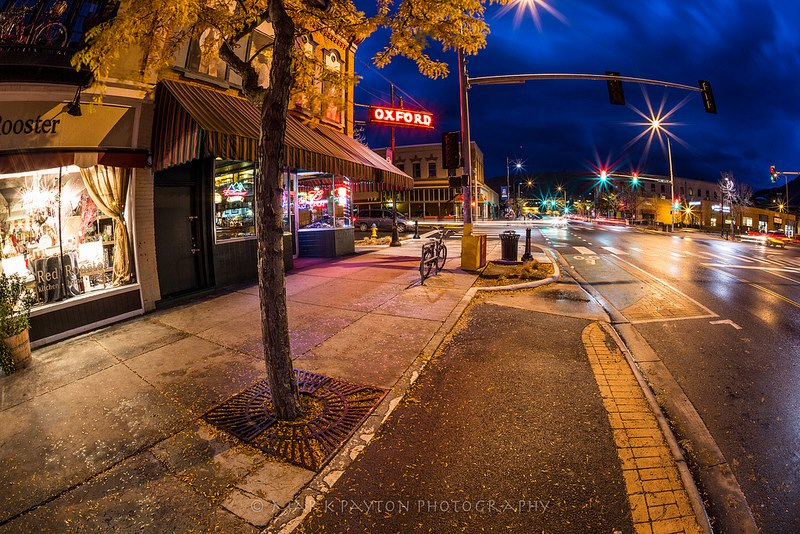 North Higgins Ave and the famous Oxford Saloon early in the morning in Missoula. I've been told you can still order cow brains and eggs there but never had the nerve to try. Anyone ever tried them? ©Mark Payton. www.markpaytonphotography.com