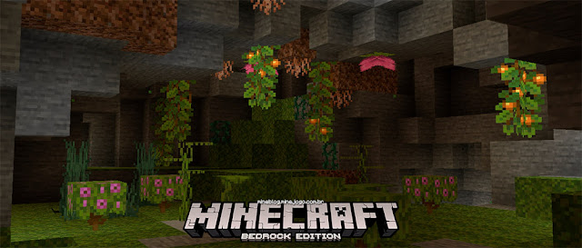 Blocos do bioma cavernas exuberantes | edição: MineBlog | imagem: Minecraft