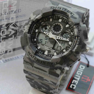 jam tangan Digitec 2072 grey army rubber