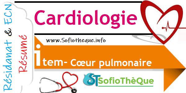 Cours PDF Résumé : Cœur Pulmonaire Chronique CPC