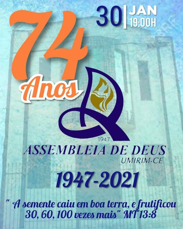 Igreja ADTC em Umirim-Ce, irá celebrar 74 anos de história, conheça o seu histórico