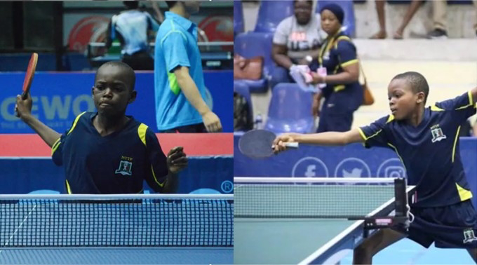 AMAZING! 11-year-old Nigerian boy emerges best cadet table tennis player in the world