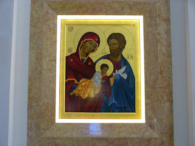 L'Icona della Sacra Famiglia, nella chiesa di Fiorentina