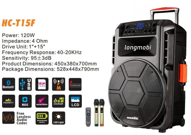 loa hat karaoke di dong ads hc t15f