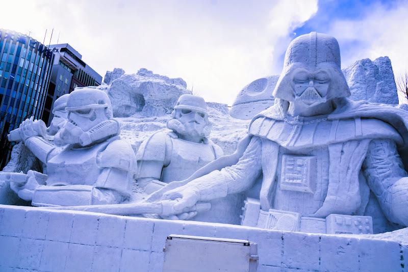 さっぽろ雪まつり 雪のスター・ウォーズ 写真2